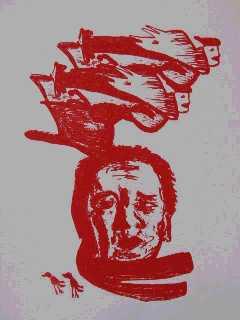 Ramses vliegend (zeefdruk 1999)