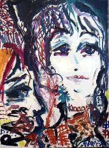 schilderijen acryl clown