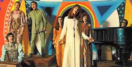 Shaffy Chantate, met in het midden: Sylvia Alberts